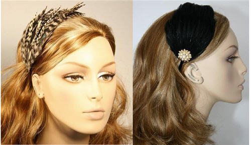 Etsy Portobello - feathered hair pieces
